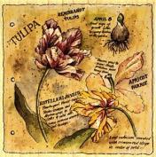 Botanical Journal - Tulip Wood Mounted Rubber Stamp