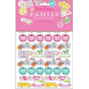 Lilly Pulitzer Family Sticker Set