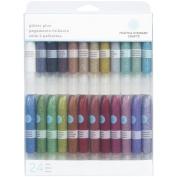 Martha Stewart Crafts Glitter Glue Set, 24 Per Pack