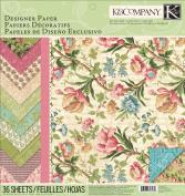 K & Company 30cm by 30cm Paper Pad, Merryweather Designer
