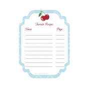 C.R. Gibson Jessie Steele Cookbook Stickers, Kitchen Cherry