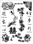 Dove of the East China Journey Foreign Acccents Clear Stamps (10cm by 18cm ) 1 sheet per pack
