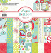 Bo Bunny Alora Collection Pack 12'X12' 18 Double Sided Papers + Sticker Sheet