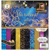 Stardust Paper Stack 30cm x 30cm 48/Sheets-24 Designs/2 Each, 12 W/Glitter Or Foil