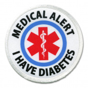 I HAVE DIABETES Medical Alert Symbol 6.4cm Sew-on Patch
