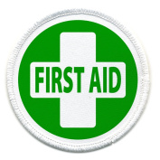 FIRST AID GREEN Fire and Rescue Heroes 6.4cm Sew-on Patch