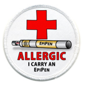 ALLERGIC I Carry an EPIPEN Medical Alert 6.4cm Sew-on Patch