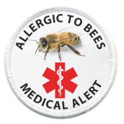 ALLERGIC TO BEES Medical Alert 6.4cm Sew-on Patch