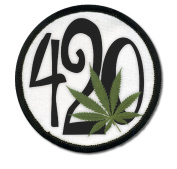 420 Weed Marijuana Hemp Pot Leaf 6.4cm Sew-on Patch