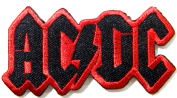 AC/DC ACDC AC DC Heavy Metal Rock Punk Music Band Logo Polo T shirt Patch Sew Iron on Embroidered Badge Sign Costum