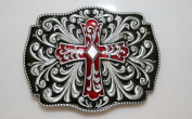 Brand:choi New Western 3d Cross & Flower Men Belt Buckle Oc-054rd