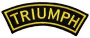 Triumph Motorcycles Racing Vintage Biker Curve Label t Shirt BT16 Iron on Patches