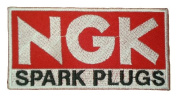 NGK SPARK PLUGS iridium Motocross Cars Label T Shirts PN07 Patches