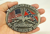 American by birth southernby grace of god eagle belt buckle WT081