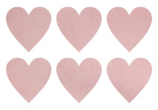 Fabric Suede 50mm Heart Iron-On Fabric Transfer