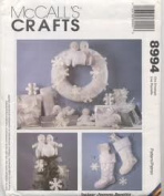 "McCall's Crafts 22840cm Snow Babies"" Tree Topper, Wreath, Stocking and Ornaments"