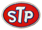 STP Gas fuel oil treatment White Logo GS06 Iron on Patches