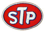 STP Gas fuel oil treatment White Logo GS06 Iron on Patches