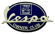 VESPA House Owner Club Motorcycles Scooters Moped BV28 Patches
