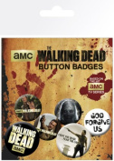 The Walking Dead - 6 Piece Button / Pin / Badge Set