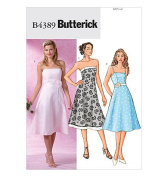 Butterick B4389 Misses / Misses Petite Formal, Prom Dress [Size 6-8-10-12] Sewing Pattern