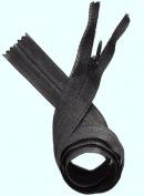 Unique Invisible Beulon Zipper 60cm ~ YKK ~ 580 Black