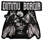 Dimmu Borgir Death Cult Logo Black Metal Music Band Woven Applique Iron or sew On Patch by Twinkle Lable