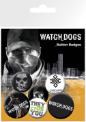 Watch Dogs - 6 Piece Button / Pin / Badge Set