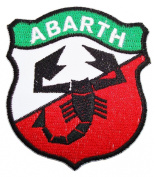 FIAT ABARTH 500 Auto Motor Vehicles Cars Green logo Shirts CA02 Patches