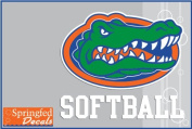 Florida Gators SOFTBALL w/ GATOR HEAD LOGO #2 Vinyl Decal Car Truck Window UF Mom Sticker