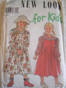 GIRLS DRESS SIZE 3-8 NEW LOOK FOR KIDS FROM SIMPLICITY SEWING PATTERNS #6457