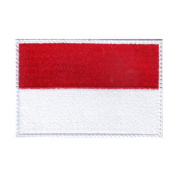 Indonesia Flag Embroidered Sew on Patch