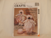 MCCALL'S CRAFTS PATTERN 6919 (LITTLE MISS MUFFET LAMBS) 1994