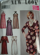 MISSES DRESS WITH SLEEVE & NECK VARIATIONS SIZE 6-8-10-12-14-16 NEW LOOK BY SIMPLICITY PATTERN 6199