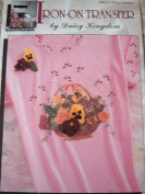 PANSY BASKET - IRON-ON TRANSFER FROM DAISY KINGDOM NOSTALGIA COLLECTION #06123