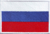 Russia Flag Embroidered Sew on Patch