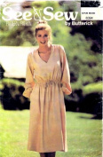 See & Sew 6394 Womens Loose Fitting Dress Vintage Sewing Pattern Size 6 - 14