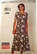 See & Sew by Butterick 3986 Sewing Pattern Misses Dress Size18,20,22