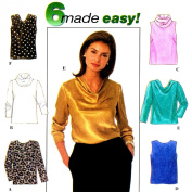 Simplicity #7884 Misses Tops in 6 Variations Sewing Pattern Size P
