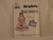 SIMPLICITY PATTERN 0619 DAISY KINGDOM CHILD'S DRESS AND BONUS DOLL DRESS (1994) SIZE AA 2,3,4