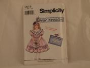 SIMPLICITY PATTERN 0619 DAISY KINGDOM CHILD'S DRESS AND BONUS DOLL DRESS (1994) SIZE AA 2,3,4