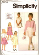 Simplicity Sewing Pattern 7464 Girl's Dress & Jacket, AA