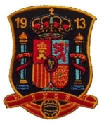 Spain Espana 1913 Fifa World Cup Soccer Iron on Patch Crest Badge ... 5.7cm X 7cm .. New