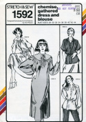 Stretch & Sew Pattern 1592 ~ Chemise, Gathered Dress & Blouse ~ Bust 28-44