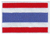 Thailand Flag Embroidered Sew on Patch
