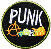 PUNK Anarchy Heavy Metal Rock Punk Music Band Logo Polo T shirt Patch Sew Iron on Embroidered Badge Sign Costum