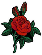Roses Embroidered Patch 10cm X 12.5cm