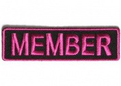 MEMBER PINK MC Club Officer Embroidered Motorcycle Quality Biker Patch PAT-2808
