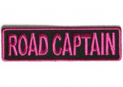ROAD CAPTAIN PINK MC Club Officer Embroidered Motorcycle Biker Patch PAT-2811