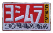 YOSHIMURA USA Exhaust System Motorcycles Bikes MotoGP Label Shirt Embroidered Iron or Sew on Patch by Twinkle Lable